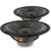 "12"" 38mm 4 Ohm Voice Speaker Driver 200W Pair"