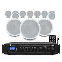 12x Ceiling Speakers Bluetooth Amplifier 100V Line Hall Warehouse PA System