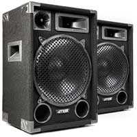 "MAX SP12 12"" Passive DJ Party Speakers 3-Way 1200W Pair"