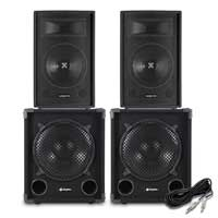 "Vonyx SPL12 12"" Passive DJ/PA Speaker with Max12SUB Subwoofer"