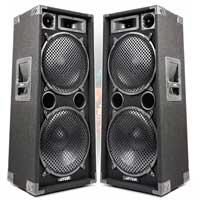 """Max SP212 Dual 12"""" Passive DJ Speaker Pair"""