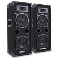 """Max Dual 6"""" DJ Speakers Pair"""