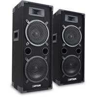"2x MAX 2 x 8"" Speakers Bedroom DJ Disco PA Party 1600W Set Mega Bass Kit"