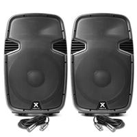 """Vonyx SPJ1500ABT 15"""" Bluetooth Active DJ Speaker Pair"""
