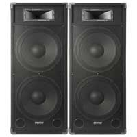 "Fenton CSB215 Dual 15"" Active DJ Speakers 3200W Pair"
