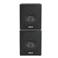 "Vonyx SWA18 18"" Active Subwoofer Pair"