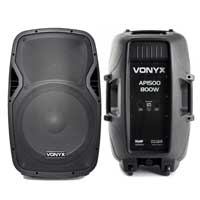 "Vonyx AP1500 15"" Lightweight Passive DJ/PA Speakers 1600W Pair"