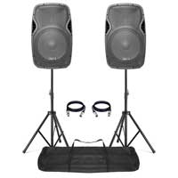 Active DJ Speakers with Stands