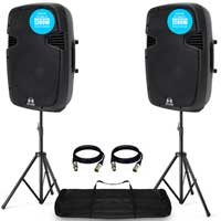 "Ekho RS12A 12"" Active DJ Speaker Pair"