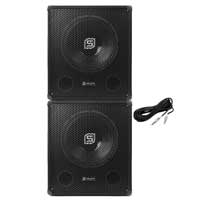 "Skytec SMWBA15 Amplified 15"" Active Subwoofer Pair"