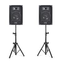 "Max 8"" Passive DJ Speakers Pair & Stands"