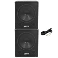 "Vonyx SMWBA18 Amplified 18"" Active Subwoofer Pair"