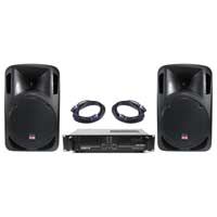 Pair Studiomaster DRIVE12 Speakers with Amplifier