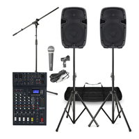 """Complete PA System with Ekho 12"""" Active Speakers, Studiomaster Mixer, Mics & Stands"""