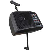 Studiomaster LiveSys5 Portable PA System & Chord MS06 Microphone Stand Kit