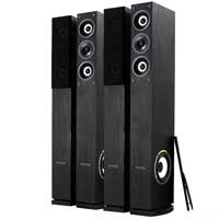 "4x Fenton Home Hifi 6.5"" 3-Way Column Floor Standing Speakers 2000W UK Stock"