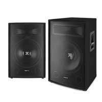 "2x Skytec 2-Way 15"" Inch 1600W Passive Speakers DJ PA Party Karaoke UK Stock"