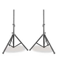2x Skytec Black Adjustable Robust Speaker Stands PA Monitor Pole Mount UK Stock