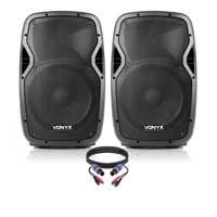 Vonyx AP1200ABT Bluetooth Active DJ Speaker Set
