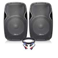 "Vonyx AP1500ABT 15"" Powered Speaker Set"