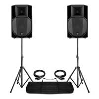 "Complete PA System with 15"" RCF ART 715-A MK4 Active Speakers, Stands & Bag"