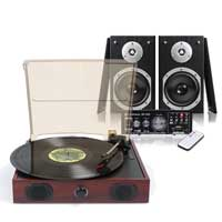 Fenton RP105 Record Player with Speakers & Amplifier