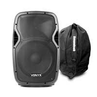 """Vonyx AP1200 12"""" Passive DJ/PA Speaker with Speaker Bag"""