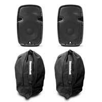 """Vonyx SPJ-1000AD 10"""" Active PA Speaker Pair with Bags"""