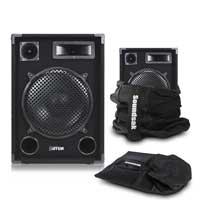 "Max SP12 12"" Passive DJ Speaker Pair with Bags"