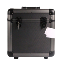 Grey LP100 Record Case with Vinyl Cleaning Cloth