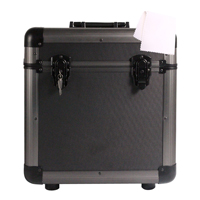 Grey LP80 Record Case with Vinyl Cleaning Cloth