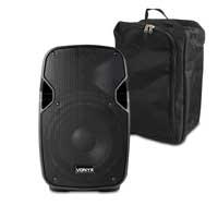 Vonyx 170.340 8 Inch Active Portable PA Speaker 200W & Gear Sack