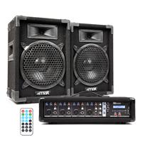 "Max 8"" Passive DJ Speakers Pair & PDM-C405A Amplifier"