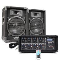 "Max 8"" Passive DJ Speakers Pair & PDM-C805A Amplifier"