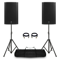"Mackie Thump15A Active DJ PA Speakers 15"" 2600W with Stands & Bag"