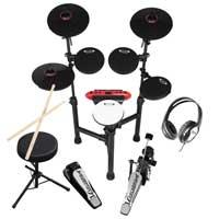 Complete 8 Piece Digital Drum Kit Set CSD130 R + Stool, Drumsticks & Headphones