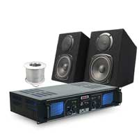 Stereo Hi-Fi Speakers and USB MP3 Amplifier 60W