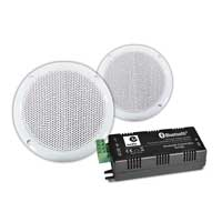 "Adastra 5.75"" Waterproof Ceiling Speakers Pair & Bluetooth Amplifier"