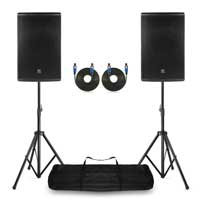 "Pair PD415P Passive Speaker 15"" with Stands 700W RMS"