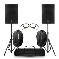 "Pair PD415P Passive Speaker 15"" with Stands and Bags 700W RMS"