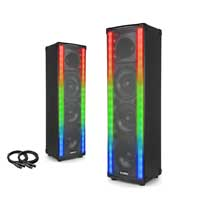 Vonyx LightMotion65 Portable PA Party Speaker Pair