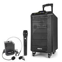 Vonyx VPS10 Bluetooth Portable PA Speaker System & UHF Headset