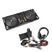 PD DJ Midi Mixer Controller, Headphones & Microphone Kit