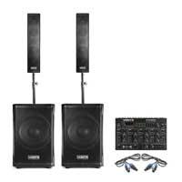 Vonyx VX1200 Column Array PA Speaker System & Mixer