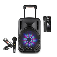 Fenton FT10LED Portable PA System with Microphone Set