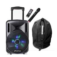 Fenton FT10LED Portable PA System with Wireless Mic & Bag
