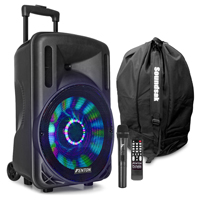 Fenton FT12LED Portable PA System with Wireless Mic & Bag