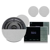 Systemline E100 Bluetooth Speaker System & Qi65CB Ceiling Speaker, Set of 4
