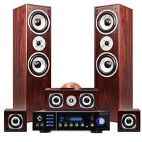 Fenton Walnut 5.0 Surround Sound & AV320BT Amplifier