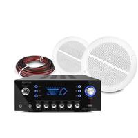 """Vonyx Marine Waterproof 5"""" Ceiling Speakers Pair & AV320BT Amplifier"""